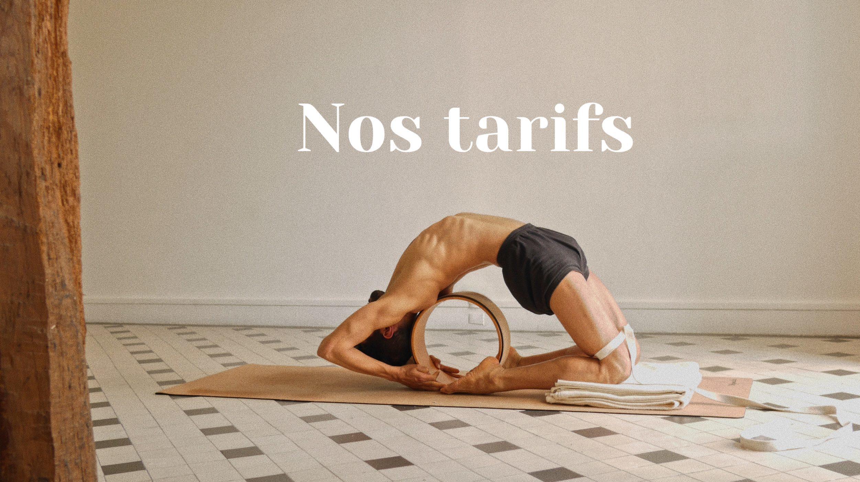 Les tarifs des cours de yoga
